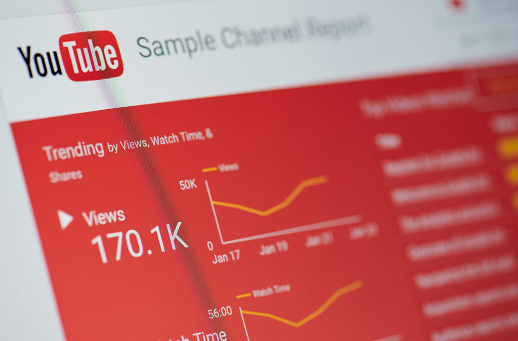 photo of stats showing a brand that is growing with youtube