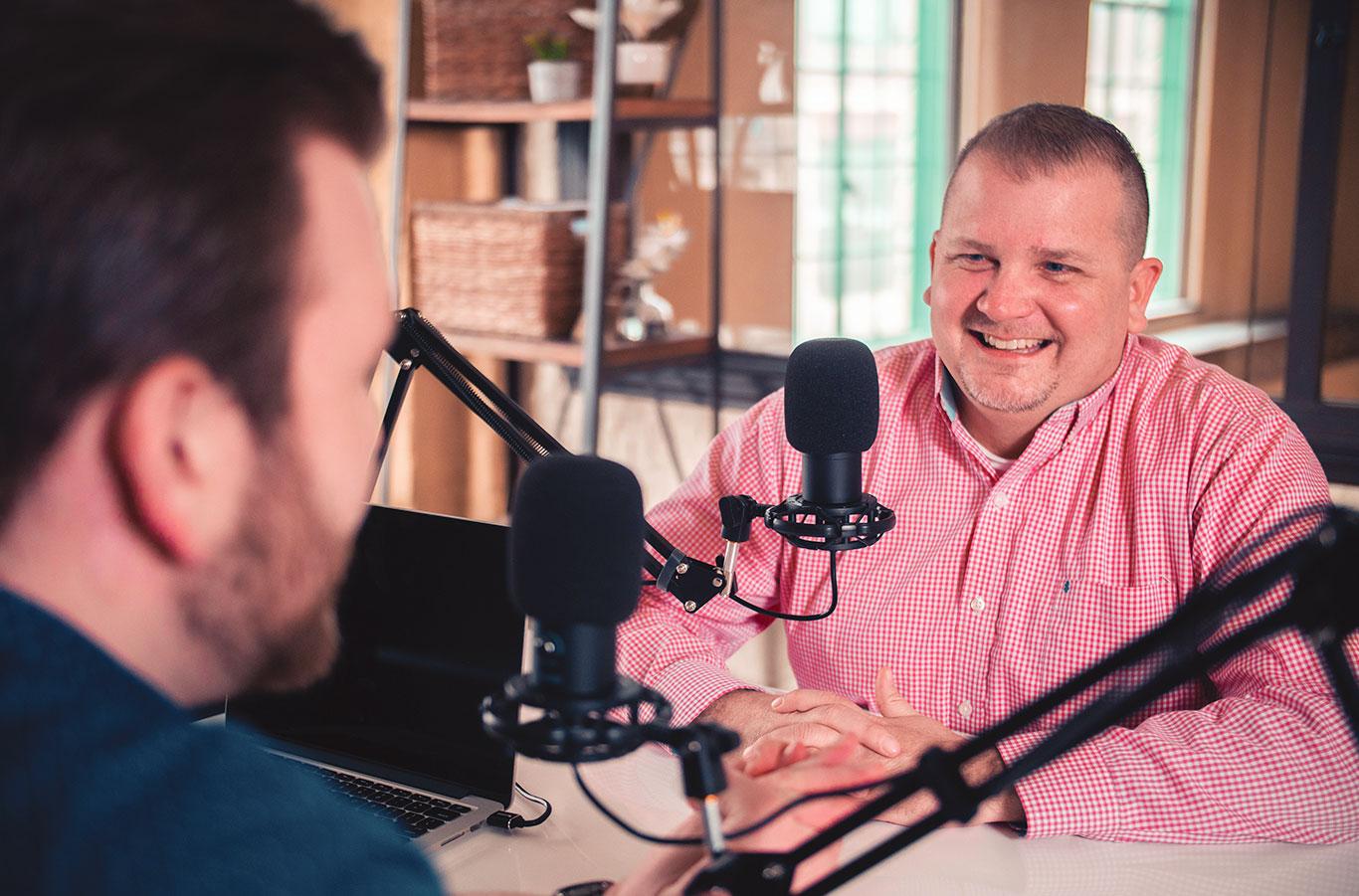 photo of Brian Schilligo and Jason Wray on the Create Your Edge Marketing Podcast