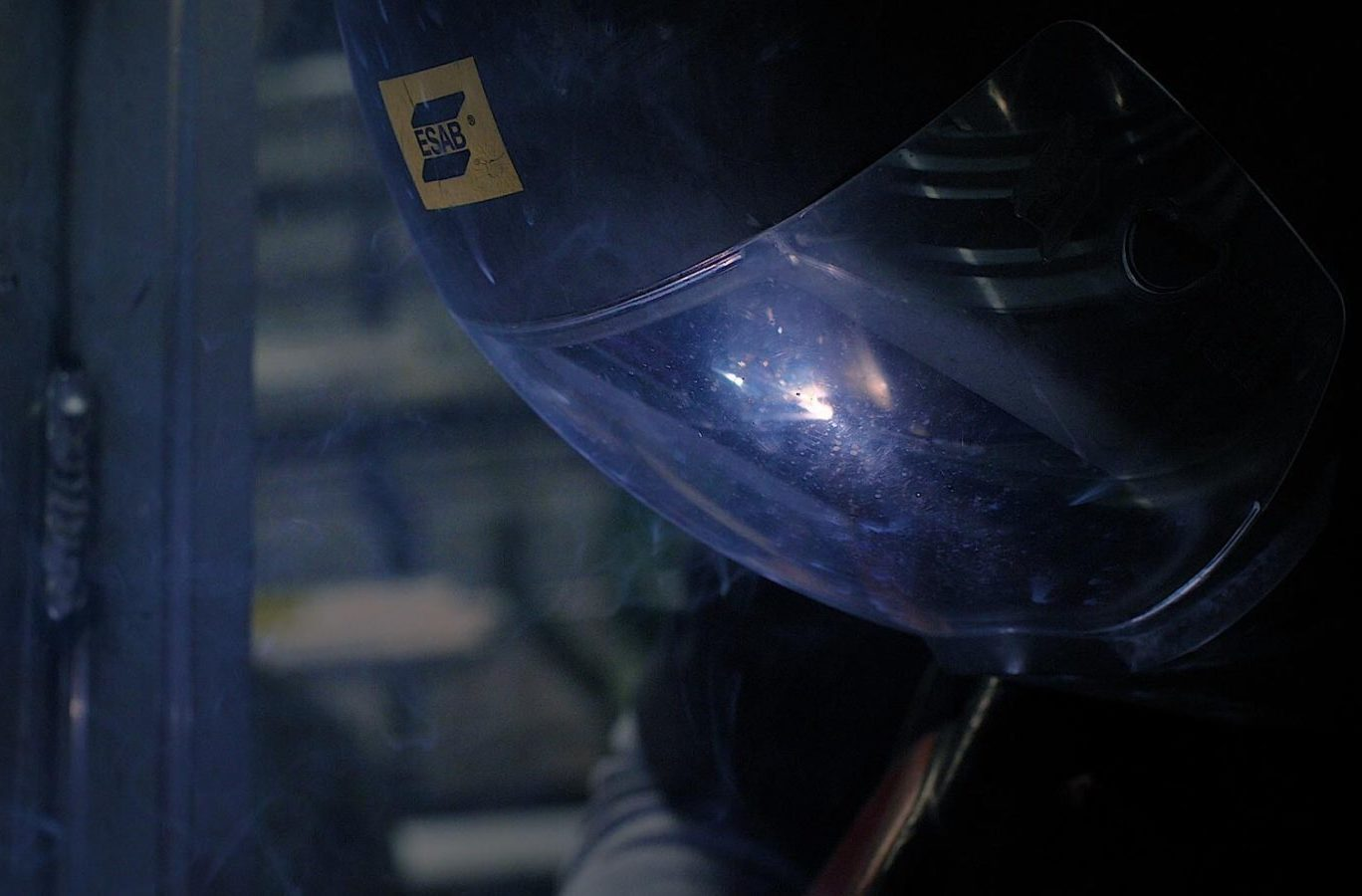 photo of a person welding at Admiral Manufacturers