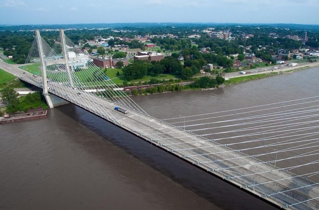 aerial photo of cape girardeau, home to realty executives edge