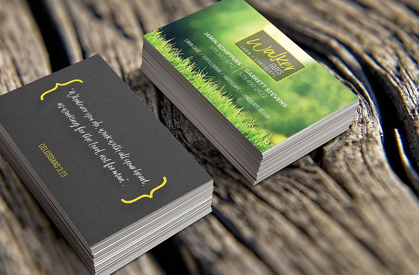 photo of business cards design for Walker Guys by Creative Edge