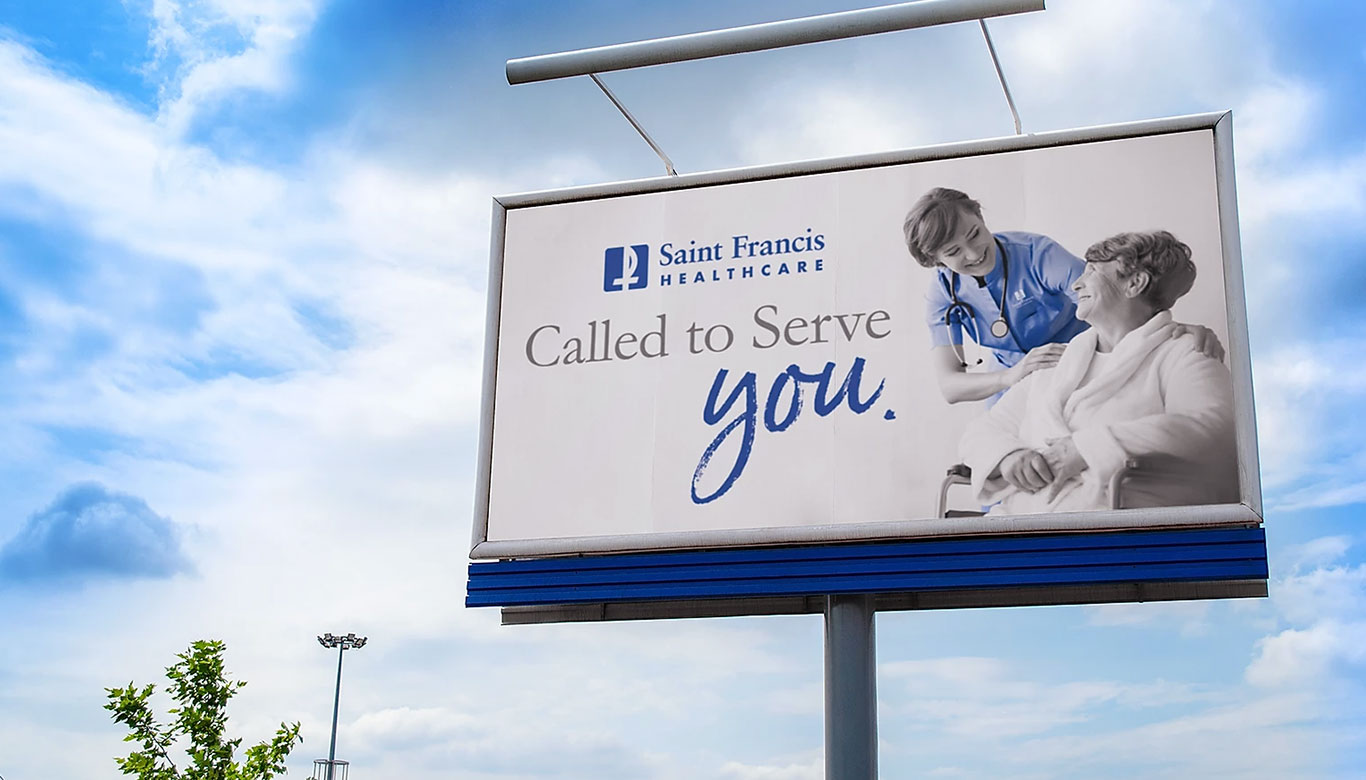 "photo of St. Francis Healthcare's ""Called to Serve You"" Billboard"